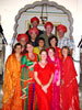 Dressing in local costumes in Rajasthani Fortress Hotel