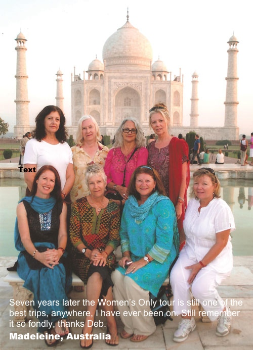 Women Only in front of Taj Mahal