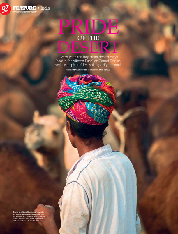 Air Asia July 2014 article on Pushkar Camel Fair