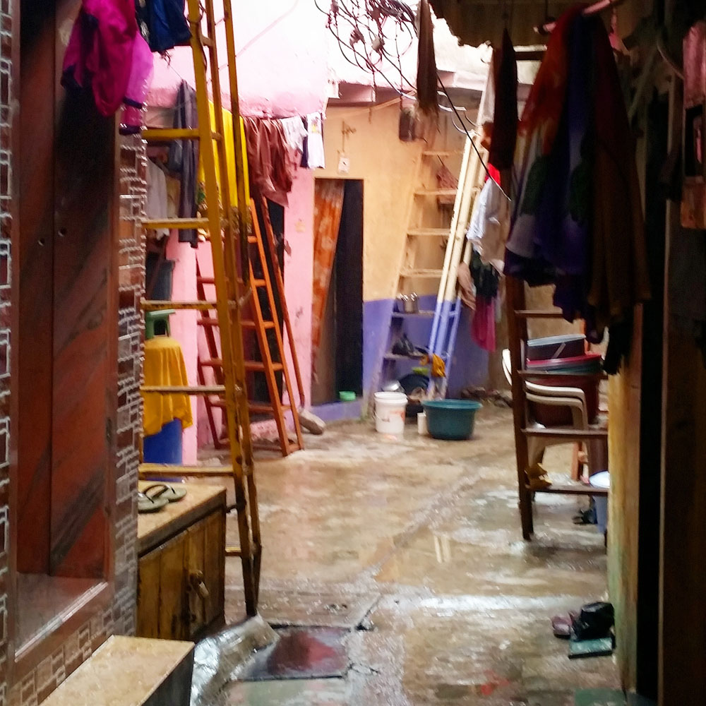 As we walked through the various sectors of dharavi i was shown into many small factories leather clothes and pottery make up much of the production
