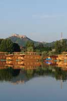 Houseboats on Dal Lake Srinagar India