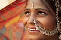 Rajasthani woman India