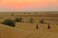 Thar Desert Sunset Jaisalmer India