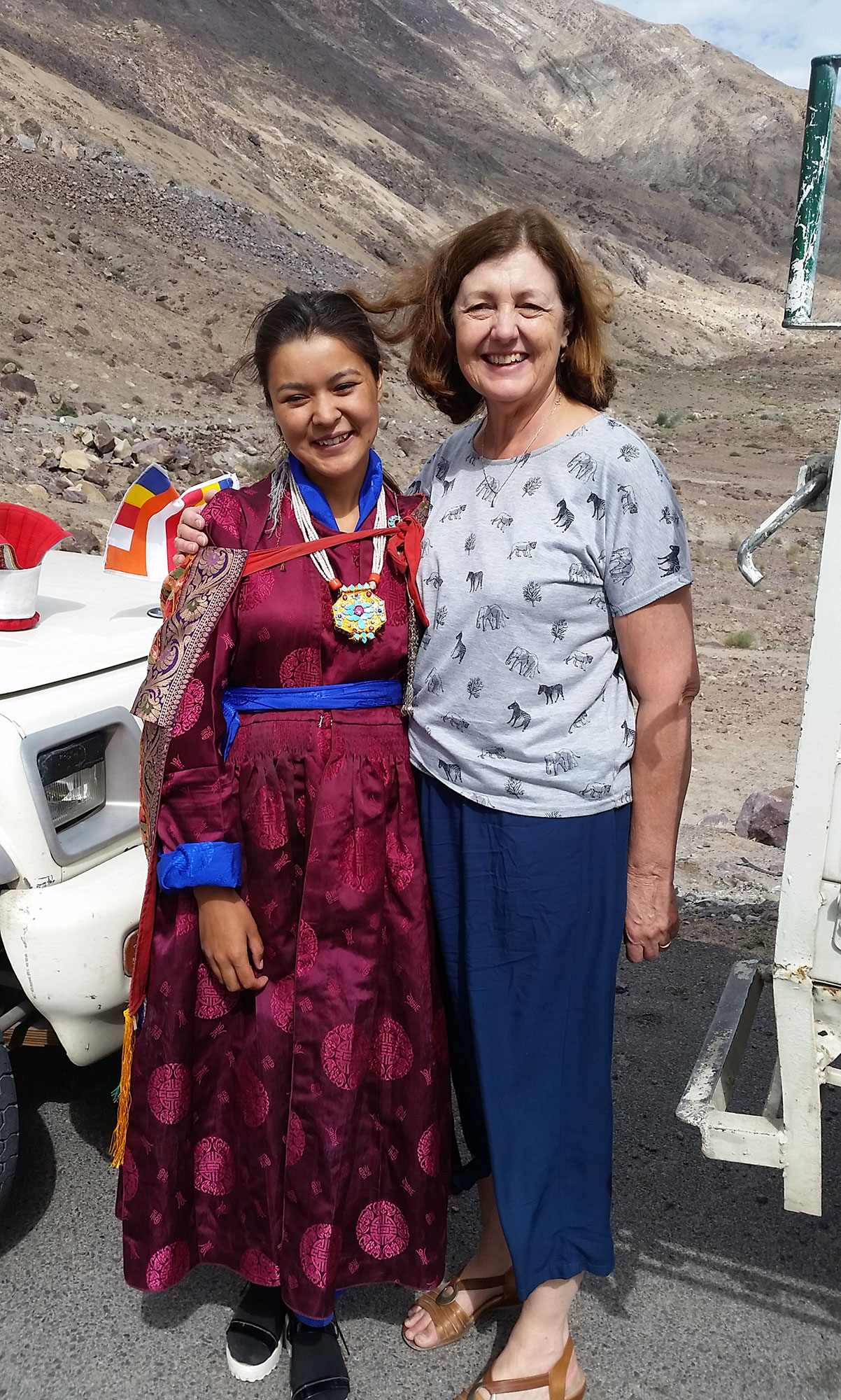 Ladakhi welcoming party for a High Lama