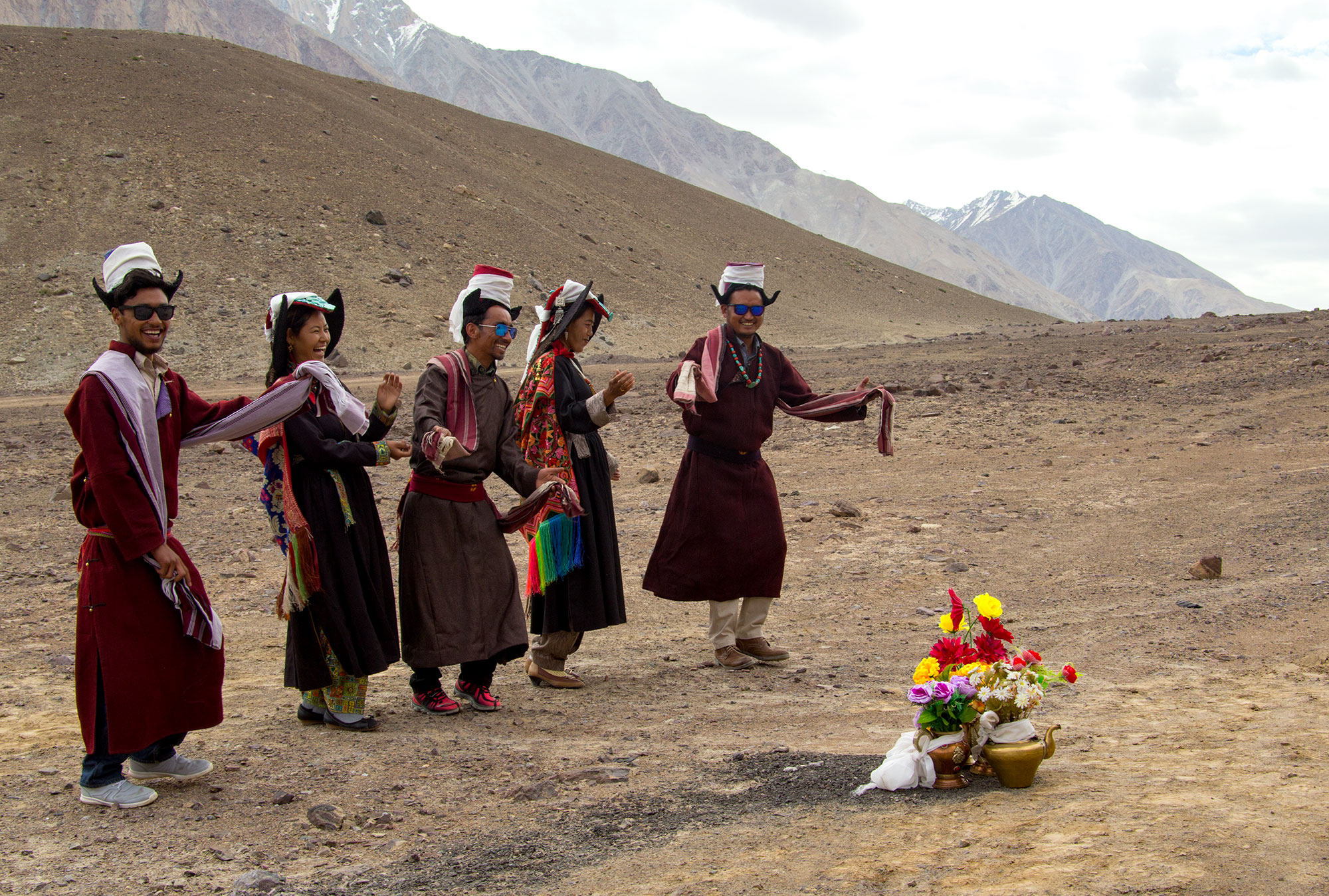 Ladakhi welcome party for a high Lama