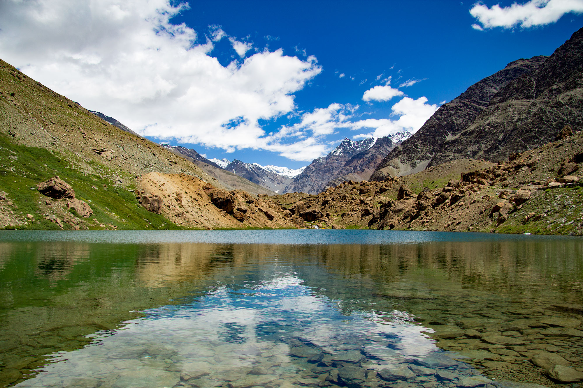 Lake along the Manali Leh Highway