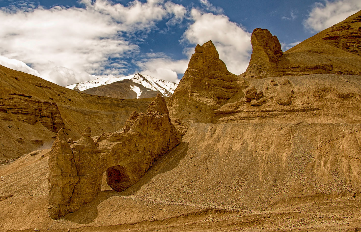 Cool rock formations on the Manali Leh Highway
