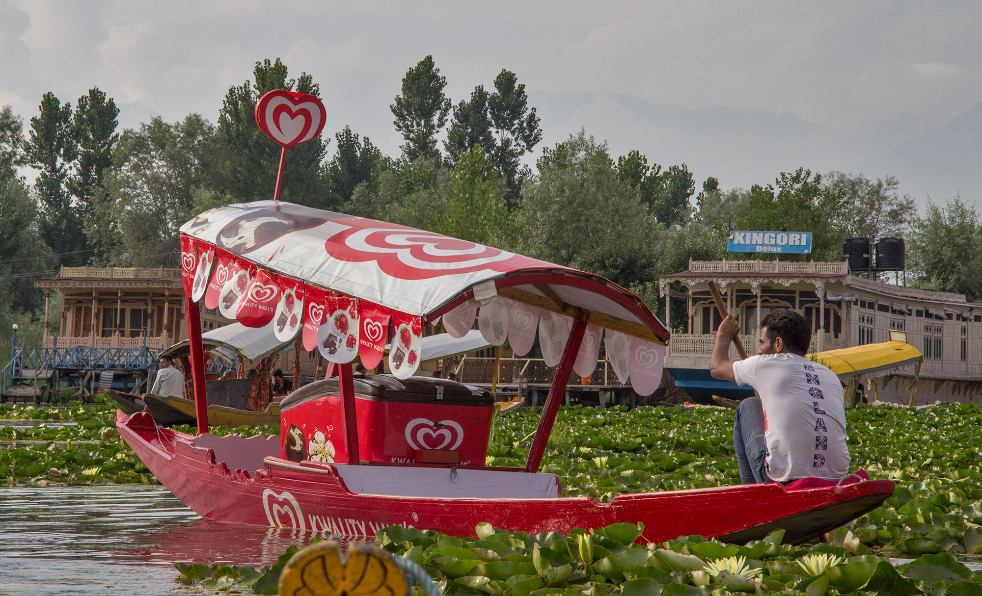 Icecream wallah Shikara, Dal Lake Srinagar