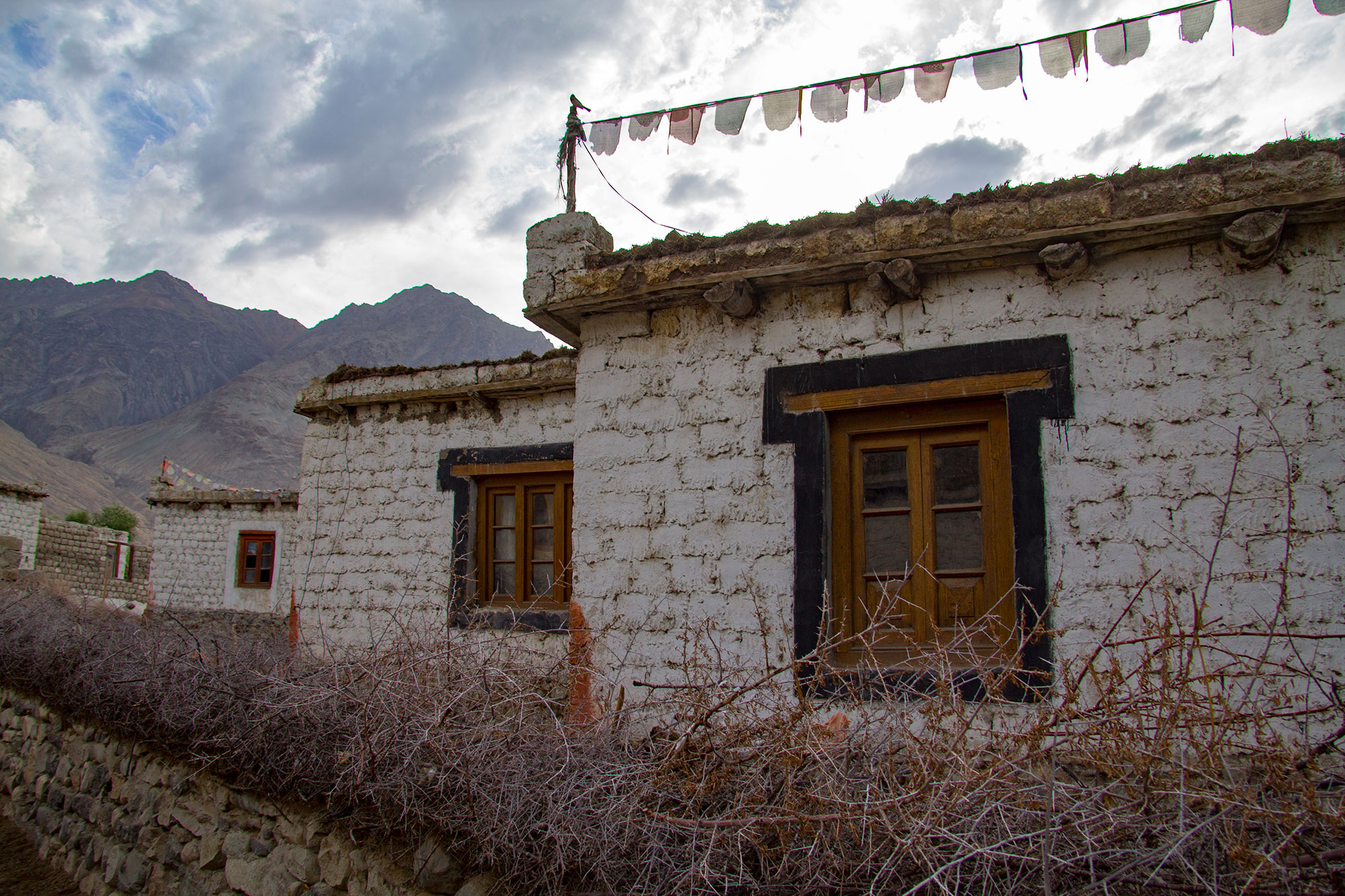 Traditional houses Nubra Valley